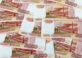 Money background of russian roubles — Stock Photo
