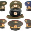 russian military officer cap — Stock Photo