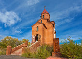 Armenian church against blue sky — Stock Photo