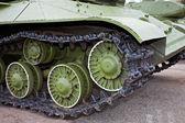Rupsen van de oude Sovjet-Unie lichte tank — Stockfoto