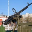 Stock Photo: Old Anti-Aircraft Machine Gun