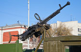 Old Anti-Aircraft Machine Gun — Stock Photo