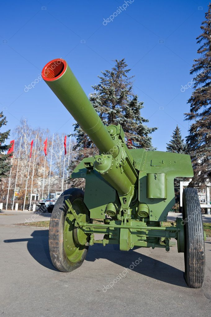 Old soviet field gun — Stock Photo #7621884