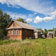 Old wooden house in russivillage — Stock Photo #7913807