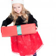 baby girl dressed up for christams — Stock Photo #6850881
