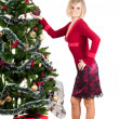 Happy woman with Christmas presents — Stock Photo #6851032