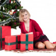 Happy woman with Christmas presents — Stock Photo #6855721