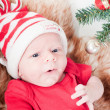 Royalty-Free Stock Photo: Newborn baby in chritstmas hat