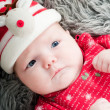 Little cute baby in red — Stock Photo #6939359