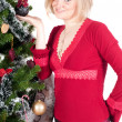 Foto Stock: Happy woman with Christmas presents