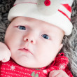 Royalty-Free Stock Photo: Little cute baby in red