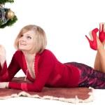 mulher feliz com presentes de Natal — Foto Stock #7232768