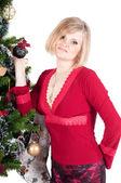 Happy woman with Christmas presents — ストック写真