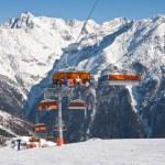 Chair ski lift. Solden. Austria — Stock Photo