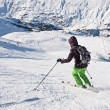 On the slopes of the ski resort of Obergurgl Austria — Stock Photo #7857333