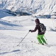 Stock Photo: On the slopes of the ski resort of Obergurgl Austria