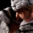Woman in a fur hat - Lizenzfreies Foto