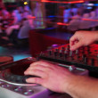 DJ at work, disco party - Foto de Stock  