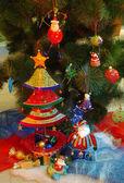 Noel ağacını süsler — Stok fotoğraf