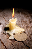 Good luck and candle — Foto Stock