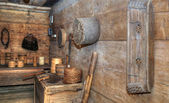 Historic room with old tools — Stock Photo