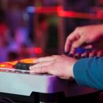 DJ at work, disco party — Stock Photo