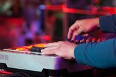 Dj alla festa di lavoro, discoteca — Foto Stock