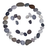 Emoticon smiley stone — Stockfoto