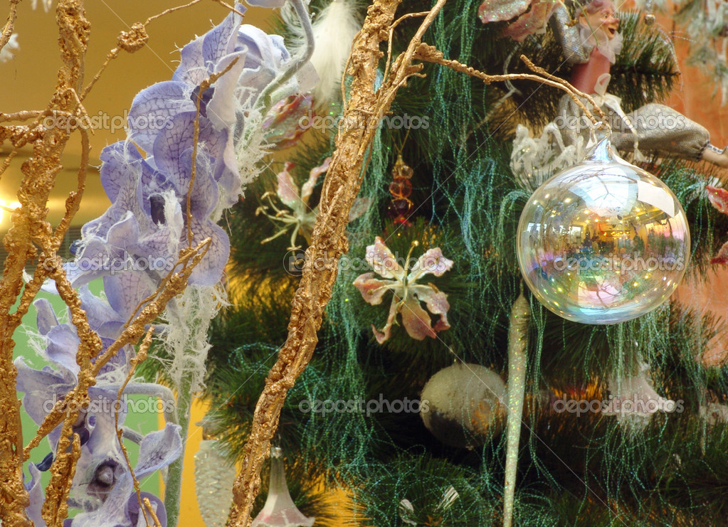 Colorful decoration of Christmas tree — ストック写真 #7671713