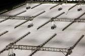 冬のフットボールのための芝生の心配 — ストック写真