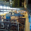 Stock Photo: Steam turbine, machinery, tubes at a power plant
