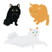 Much cats of the miscellaneous of the colour — Vecteur