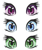 Illustration eye miscellaneous of the colour — Stock Vector