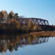 Stock Photo: Old railroad bridges