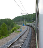 Travelling by train — Stockfoto