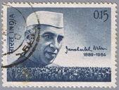 Portrait Prime Minister of Jawaharlal Nehru — Stock Photo