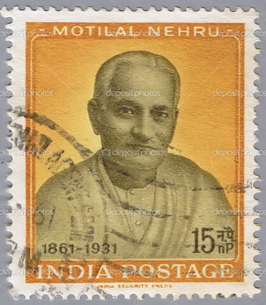 Portrait of the indian political leader motilal nehru - stock
