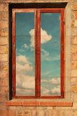 Retro image with window — Stock Photo