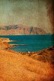 Retro obrázek s mořem — Stock fotografie