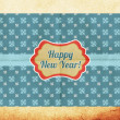 Stylish new year postcard — Stock Photo