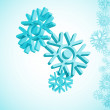 3d snowflake — Stock Vector #7189041