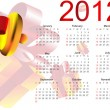 Beautiful christmas calendar — Stock Vector