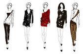 Eskiz. kız moda. — Stok Vektör