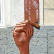 Monument to the plastic credit card. Yekaterinburg. — Stock Photo