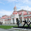 Old railway station in the City of Ekaterinburg — Stock Photo
