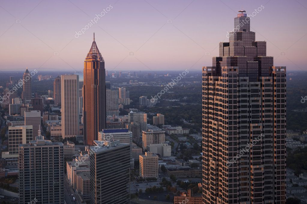 Downtown Atlanta, Georgia in sunset.  Stok fotoraf #7805319