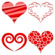Vector hearts set — Stock Vector #7568340