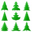 Christmas trees collection — Stock Vector #7597542