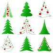 Christmas trees collection — Stock Vector #7702154