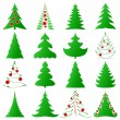 Christmas trees collection — Stok Vektör